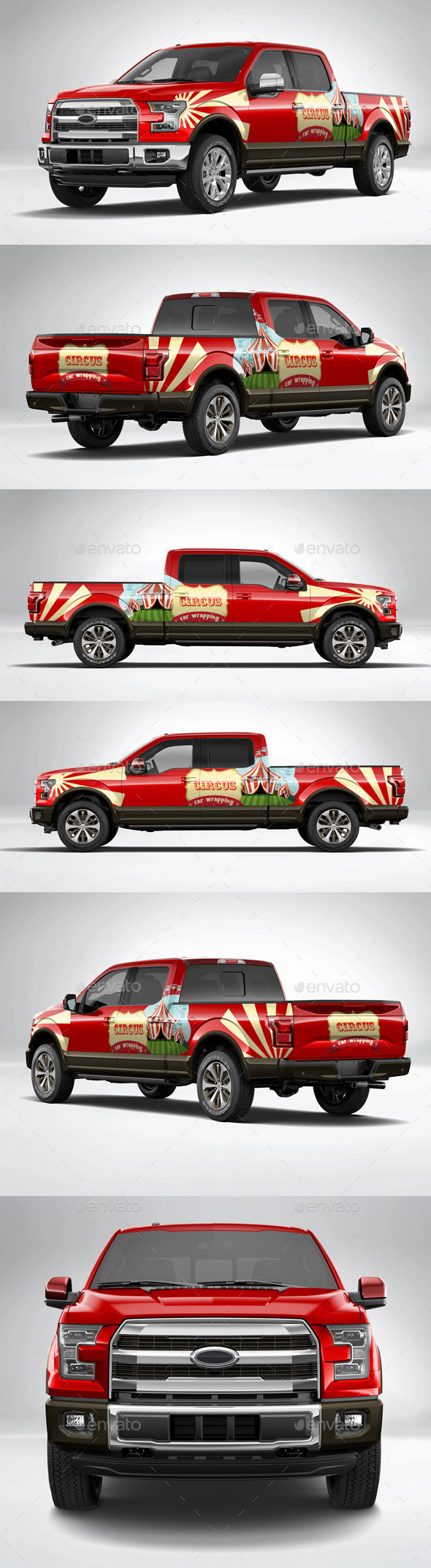 Car Wrapping Ford F150 - Exemple cirque