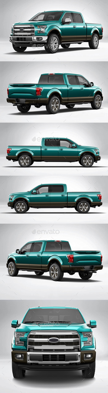 Car Wrapping Ford F150 en couleur bleu