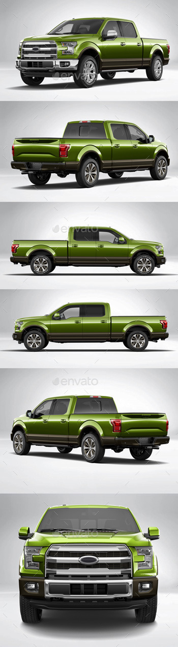Car Wrapping Ford F150 - Version Vert