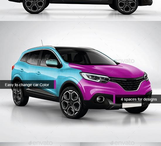 Photorealistic Renault Kadjar Car Mockup
