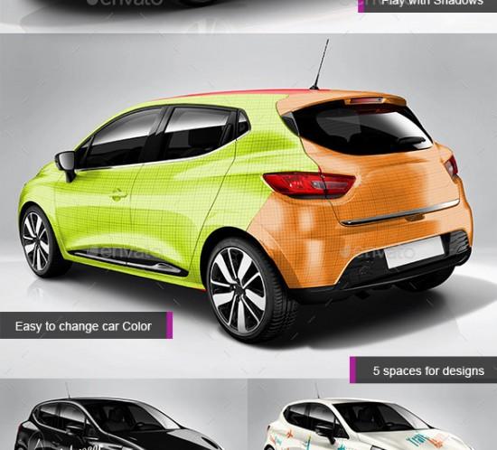 Mockup de la Renault Clio